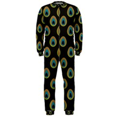 Peacock Inspired Background OnePiece Jumpsuit (Men)