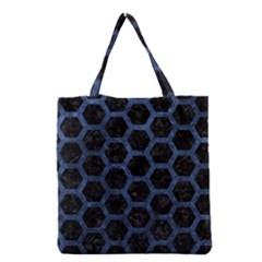 HXG2 BK-MRBL BL-STONE Grocery Tote Bag
