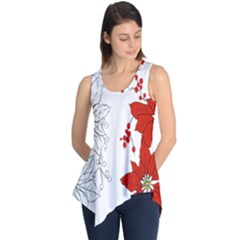 Poinsettia Flower Coloring Page Sleeveless Tunic