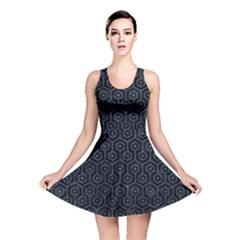 HXG1 BK-MRBL BL-STONE Reversible Skater Dress