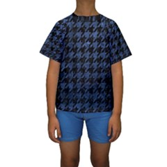 HTH1 BK-MRBL BL-STONE Kids  Short Sleeve Swimwear