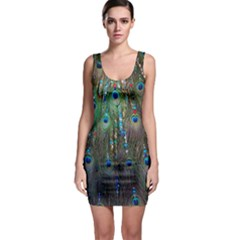 Peacock Jewelery Sleeveless Bodycon Dress