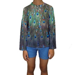 Peacock Jewelery Kids  Long Sleeve Swimwear