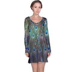 Peacock Jewelery Long Sleeve Nightdress