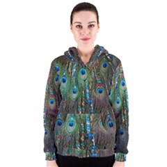 Peacock Jewelery Women s Zipper Hoodie