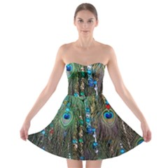 Peacock Jewelery Strapless Bra Top Dress