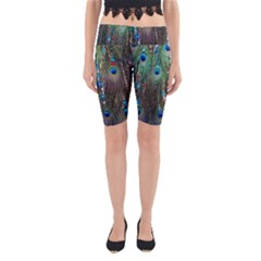 Peacock Jewelery Yoga Cropped Leggings