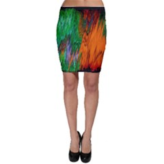 Watercolor Grunge Background Bodycon Skirt