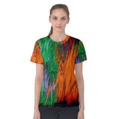 Watercolor Grunge Background Women s Cotton Tee