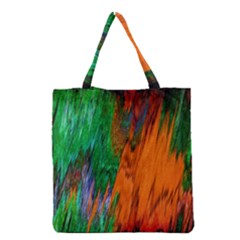 Watercolor Grunge Background Grocery Tote Bag