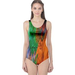 Watercolor Grunge Background One Piece Swimsuit
