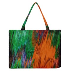 Watercolor Grunge Background Medium Zipper Tote Bag