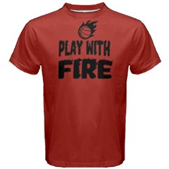 Play With Fire Basketball   Men s Cotton Tee