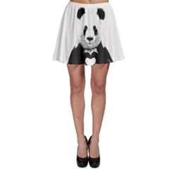 Panda Love Heart Skater Skirt