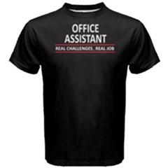 Black Office Assistant  Men s Cotton Tee