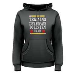 Grey training tiny humans to listen to me  Women s Pullover Hoodie