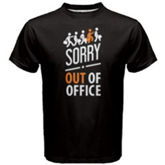 Black Sorry Out Of Service Men s Cotton Tee