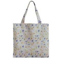 Vintage Hand Drawn Floral Background Grocery Tote Bag
