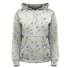 Vintage Hand Drawn Floral Background Women s Pullover Hoodie