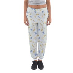 Vintage Hand Drawn Floral Background Women s Jogger Sweatpants