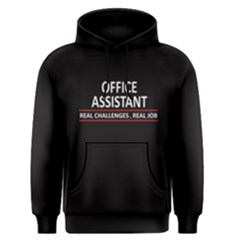 Black Office Assitant Real Challenges Real Job Men s Pullover Hoodie