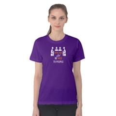 Purple Work Hard And Be Nice To People Women s Cotton Tee