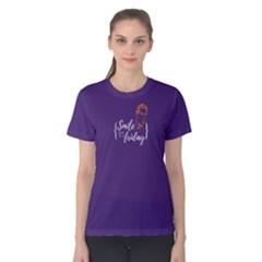 Purple smile it s friday Women s Cotton Tee