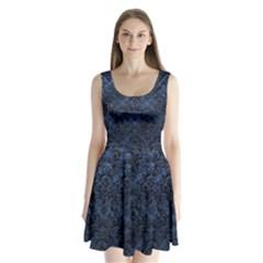 DMS1 BK-MRBL BL-STONE (R) Split Back Mini Dress