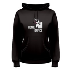 Black Home Office  Women s Pullover Hoodie