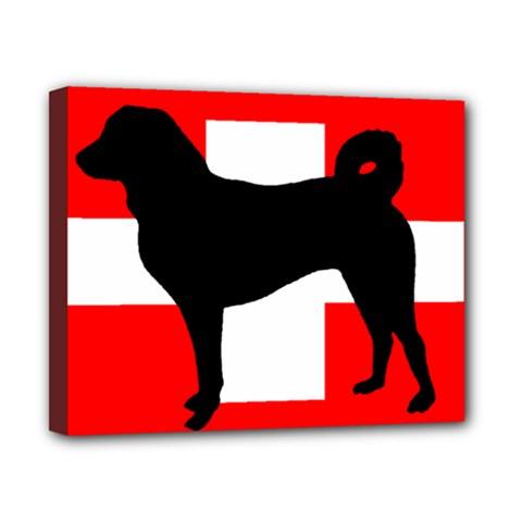 Appenzeller Sennenhund Silo Switzerland Flag Canvas 10  x 8