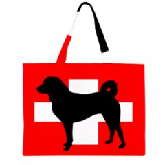 Appenzeller Sennenhund Silo Switzerland Flag Large Tote Bag