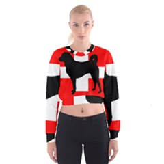 Appenzeller Sennenhund Silo Switzerland Flag Women s Cropped Sweatshirt
