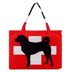 Appenzeller Sennenhund Silo Switzerland Flag Medium Zipper Tote Bag