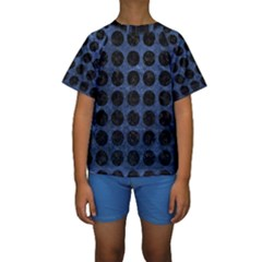 CIR1 BK-MRBL BL-STONE (R) Kids  Short Sleeve Swimwear