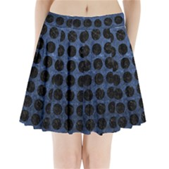 CIR1 BK-MRBL BL-STONE (R) Pleated Mini Skirt