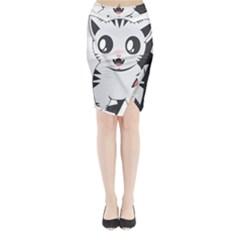 Meow Midi Wrap Pencil Skirt