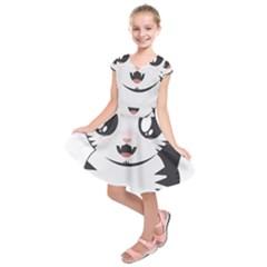 Meow Kids  Short Sleeve Dress