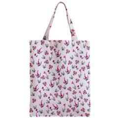 Heart Ornaments And Flowers Background In Vintage Style Classic Tote Bag
