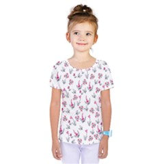 Heart Ornaments And Flowers Background In Vintage Style Kids  One Piece Tee