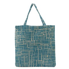 Hand Drawn Lines Background In Vintage Style Grocery Tote Bag