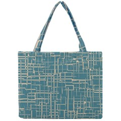 Hand Drawn Lines Background In Vintage Style Mini Tote Bag