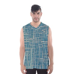 Hand Drawn Lines Background In Vintage Style Men s Basketball Tank Top