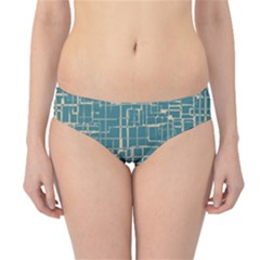 Hand Drawn Lines Background In Vintage Style Hipster Bikini Bottoms