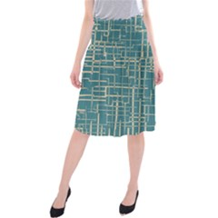 Hand Drawn Lines Background In Vintage Style Midi Beach Skirt