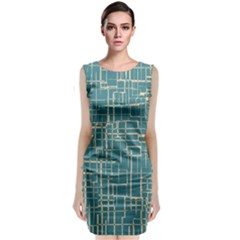 Hand Drawn Lines Background In Vintage Style Classic Sleeveless Midi Dress