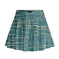 Hand Drawn Lines Background In Vintage Style Mini Flare Skirt
