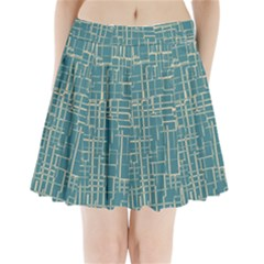 Hand Drawn Lines Background In Vintage Style Pleated Mini Skirt