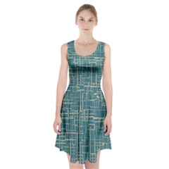 Hand Drawn Lines Background In Vintage Style Racerback Midi Dress
