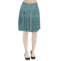 Hand Drawn Lines Background In Vintage Style Pleated Skirt
