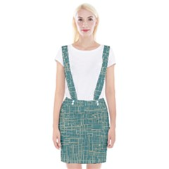 Hand Drawn Lines Background In Vintage Style Suspender Skirt